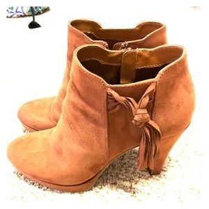 Unlisted Suede Ankle Boot with Tassel